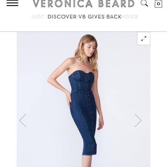 742162084d Veronica beard denim bustier dress. M 5bdb63163c9844992e94d764